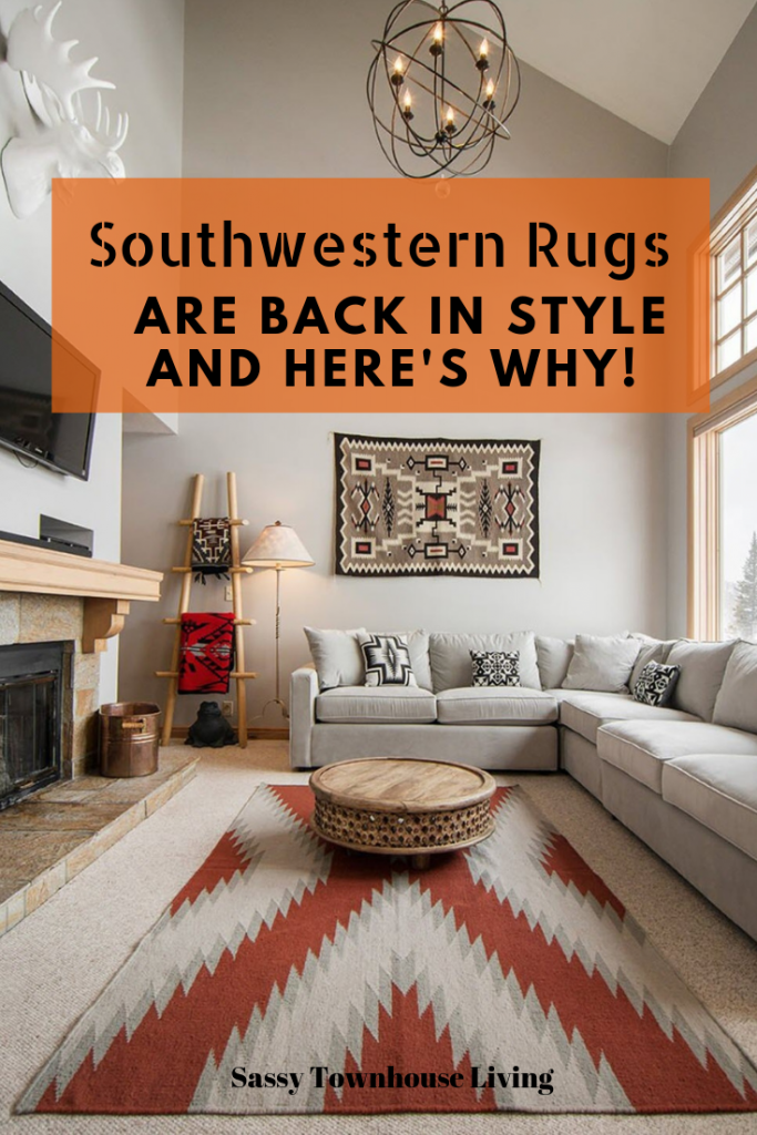 Southwestern Rugs Are Back In Style And Here's Why - Sassy Townhouse Living