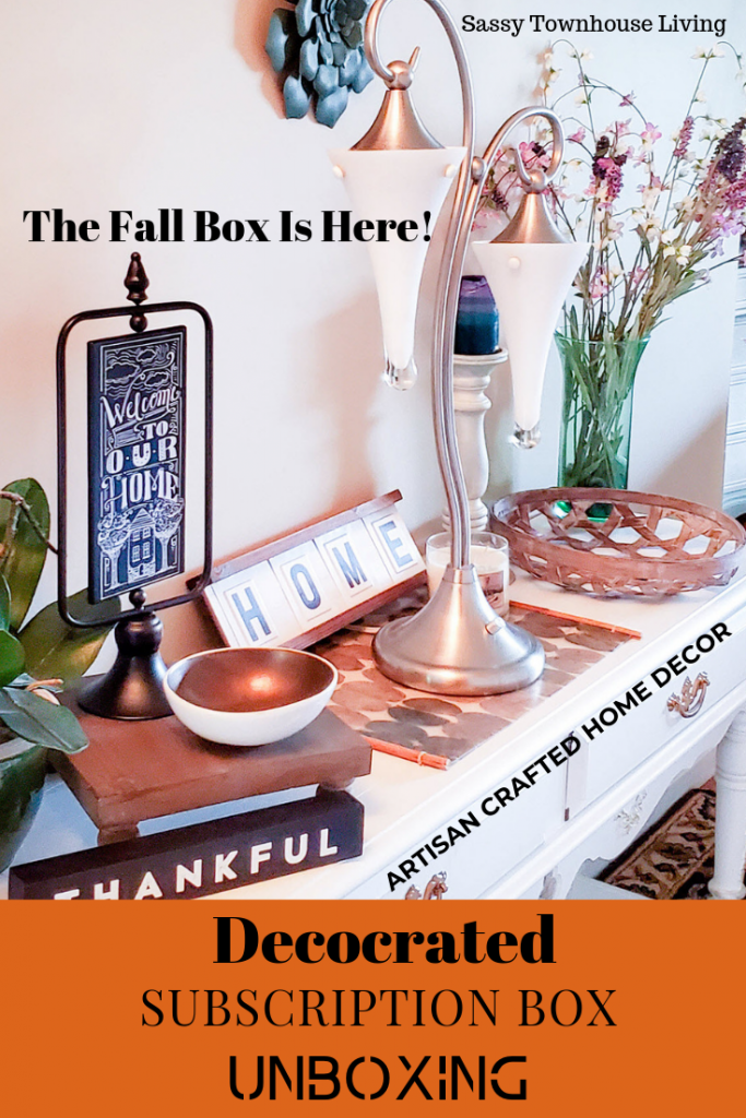 Decocrated Subscription Box Unboxing - Artisan Crafted Home Decor - Sassy Townhouse Living