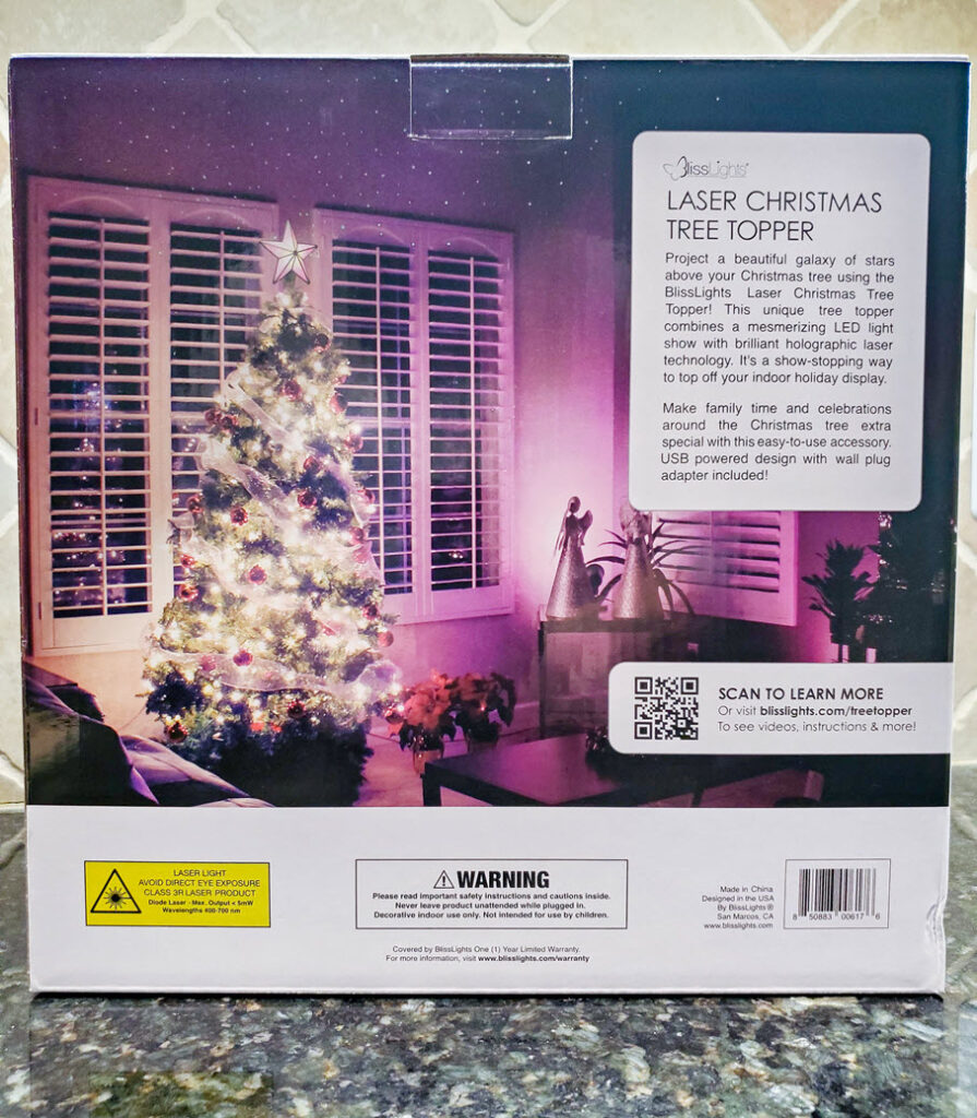 BlissLights Laser Christmas Tree Topper