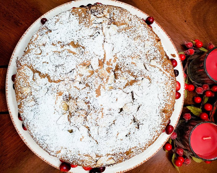 Apple, Cranberry, Almond Cake Recipe - Easy, Moist, And Delicious