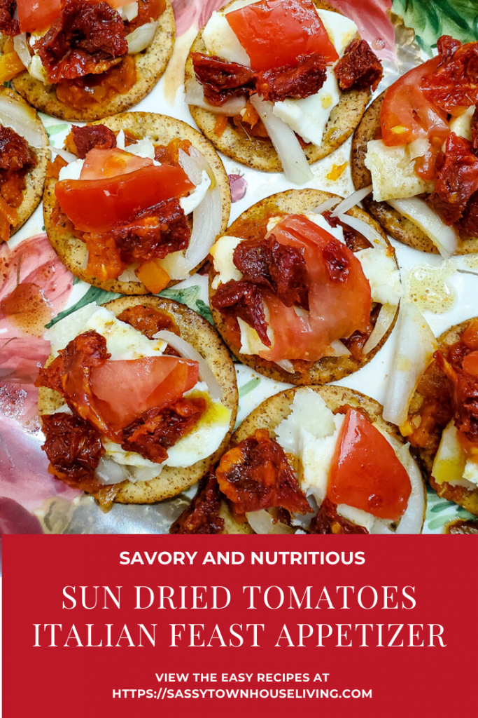 Sun Dried Tomatoes Italian Feast Appetizer - Sassy Townhouse Living