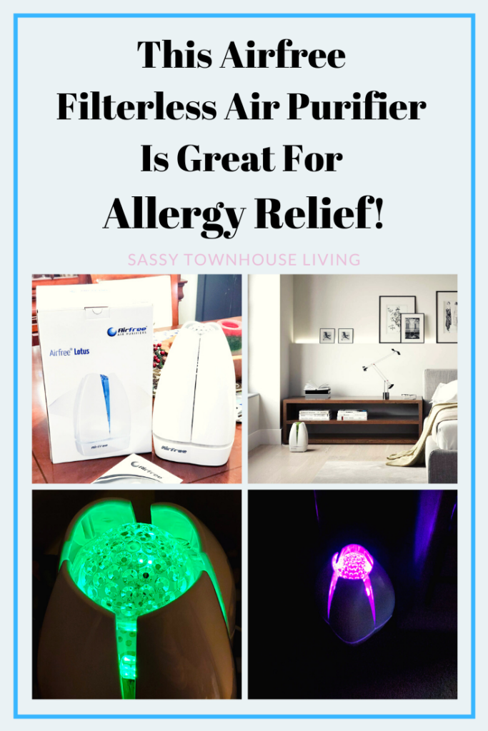 This Airfree Filterless Air Purifier Is Great For Allergy Relief - Sassy Townhouse Living