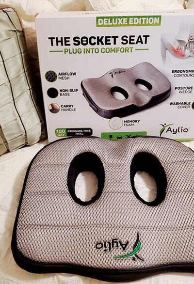 This Socket Seat Cushion For Lower Back Pain Really Works!