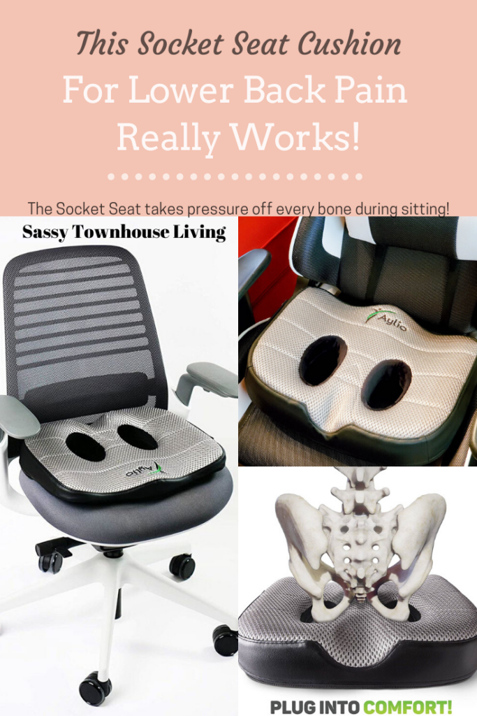 This Seat Cushion For Lower Back Pain Really Works The Socket Seat - Sassy Townhouse Living