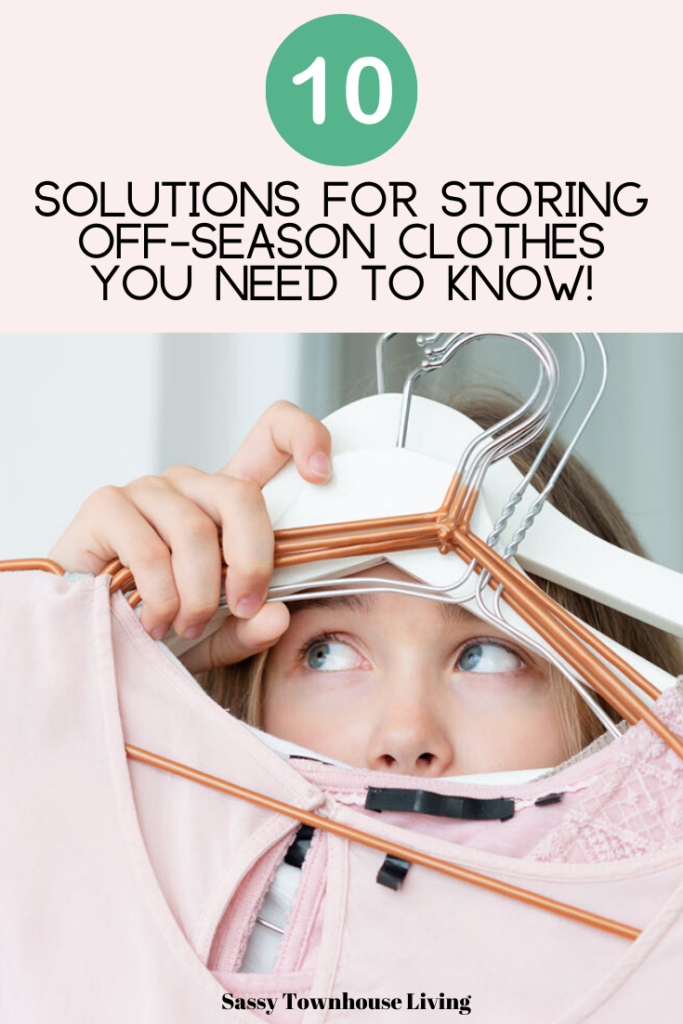 10 Solutions For Storing Off-Season Clothes You Need To Know - Sassy Townhouse Living