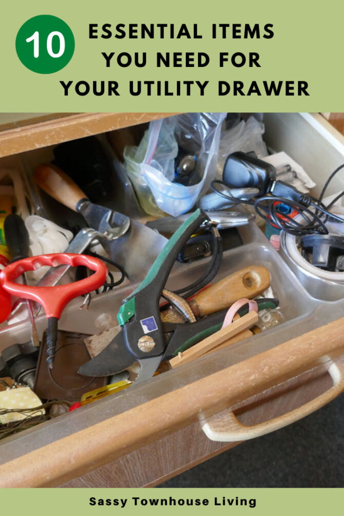 Essential Items You Need for Your Utility Drawer - Sassy Townhouse Living
