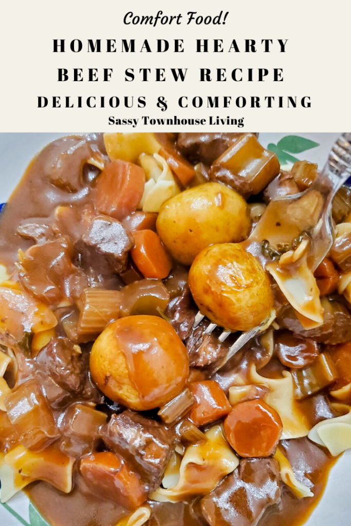 Homemade Hearty Beef Stew Recipe - So Delicious & Comforting - Sassy Townhouse Living