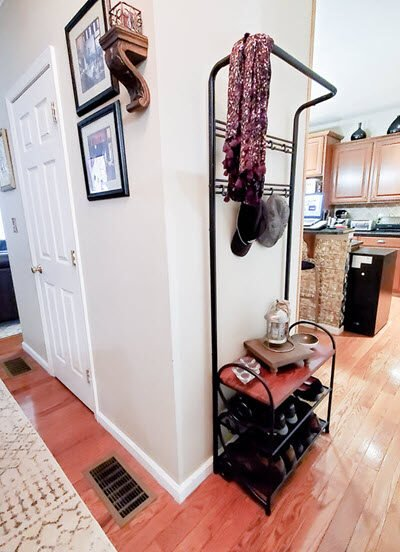 This Stylish Shoe And Coat Rack Bench Perfectly Organized My Entryway
