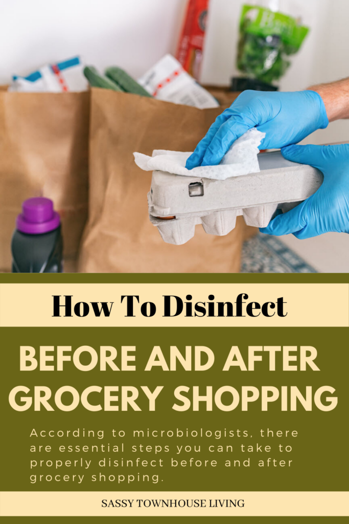 How To Disinfect Before And After Going Grocery Shopping - Sassy Townhouse Living