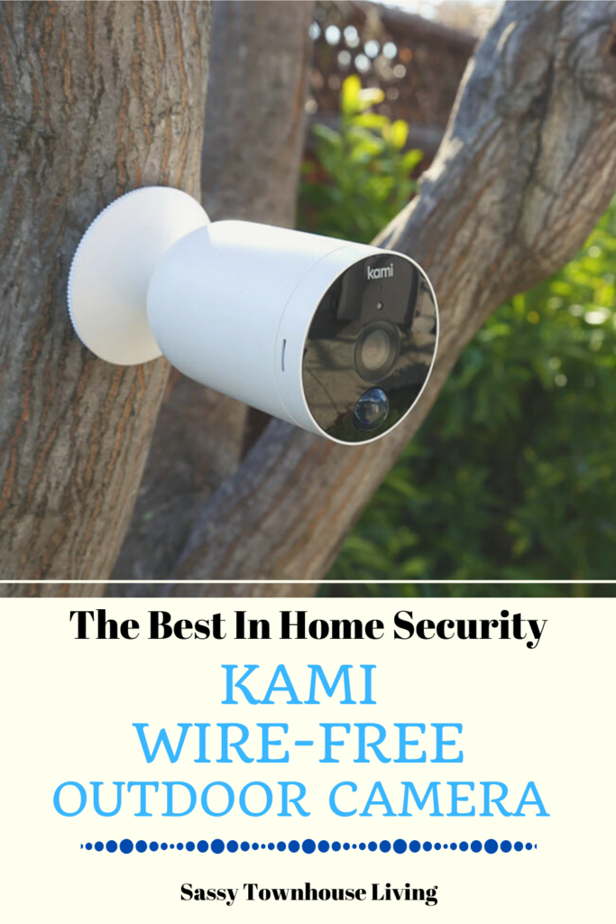 Kami Wire-Free Outdoor Camera - The Best In Home Security - Sassy Townhouse Living