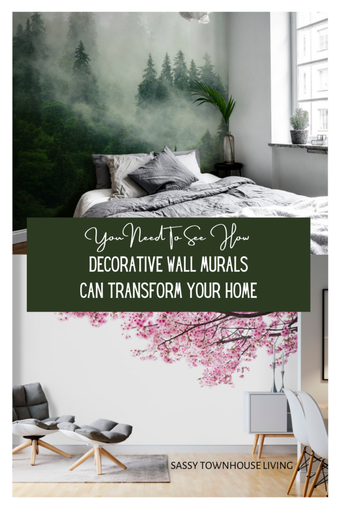 You Need To See How Wall Murals Can Transform Your Home - Sassy Townhouse Living