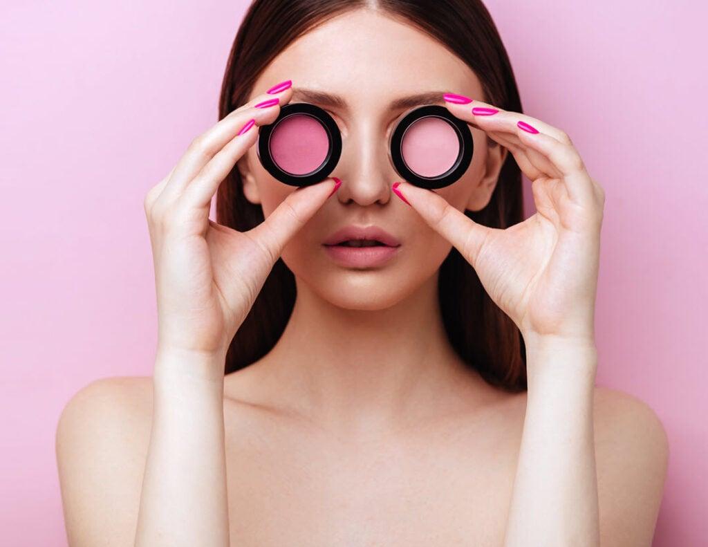 Sensitive Eyes Applying Makeup