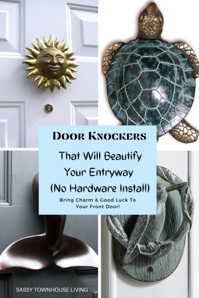 Door Knockers That Will Beautify Your Entryway (No Hardware Install!) Sassy Townhouse Living