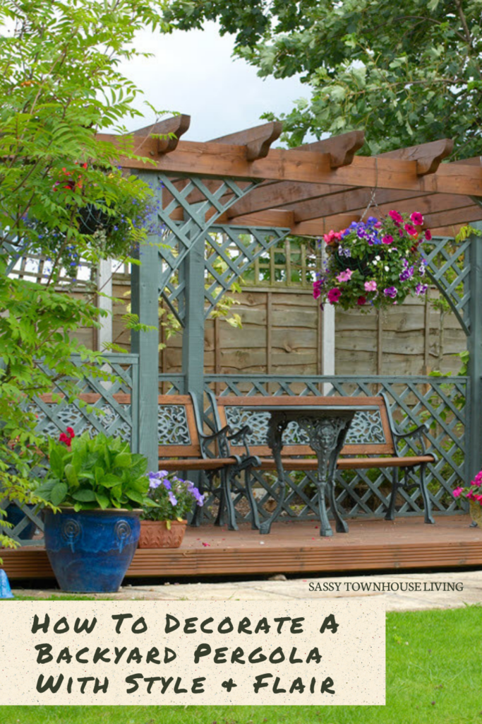 How To Decorate A Backyard Pergola With Style & Flair - Sassy Townhouse Living