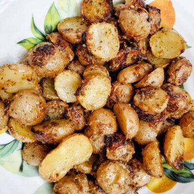 Roasted Ranch Potatoes Bacon Bits & Scrambled Eggs