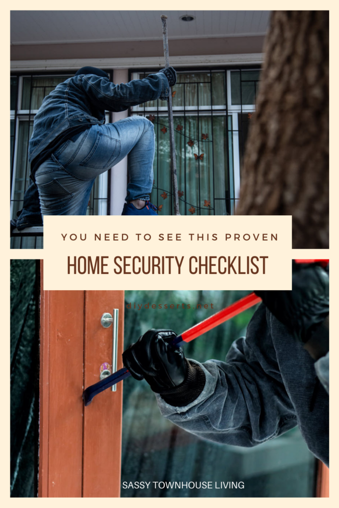 You Need To See This Proven Home Security Checklist - Sassy Townhouse Living