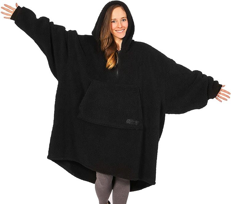 THE COMFY Teddy Bear Oversized All Sherpa Wearable Blanket