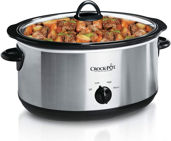 Crock-Pot 7-Quart Oval Manual Slow Cooker Stainless Steel