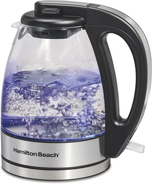 Hamilton Beach Glass Electric Tea Kettle, Water Boiler & Heater