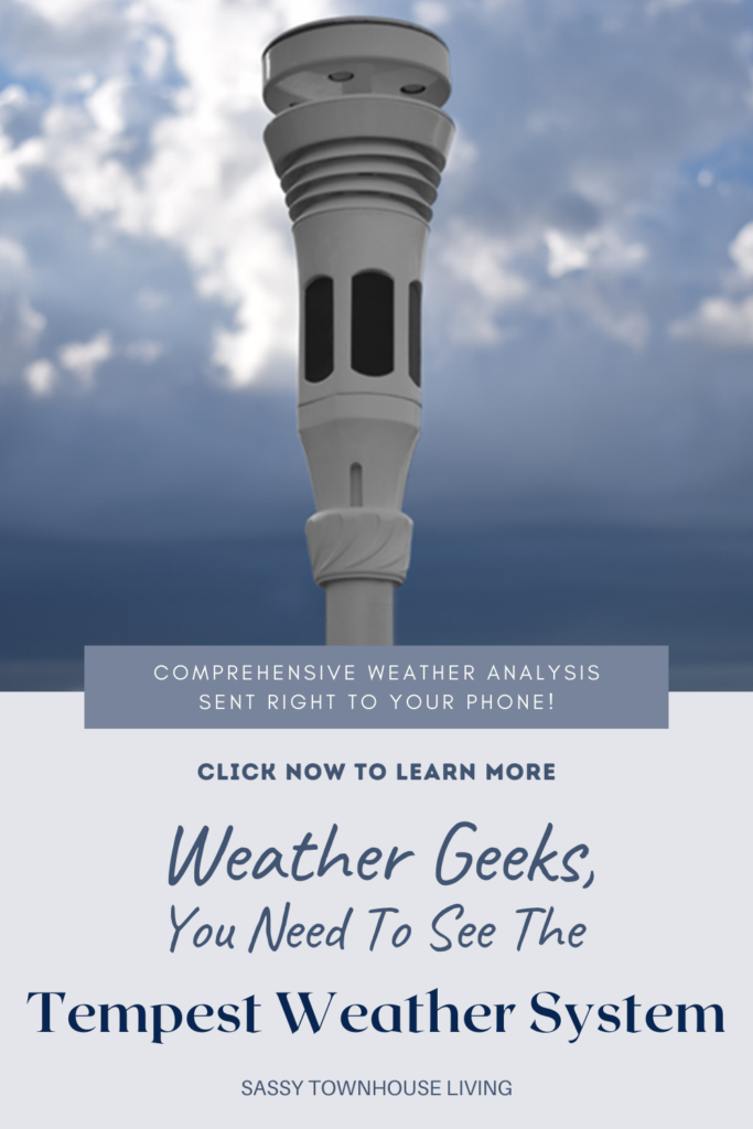 Weather Geeks, You Need To See The Tempest Weather System - Sassy Townhouse Living