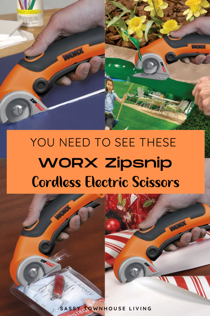 You Need To See These WORX Zipsnip Cordless Electric Scissors - Sassy Townhouse Living