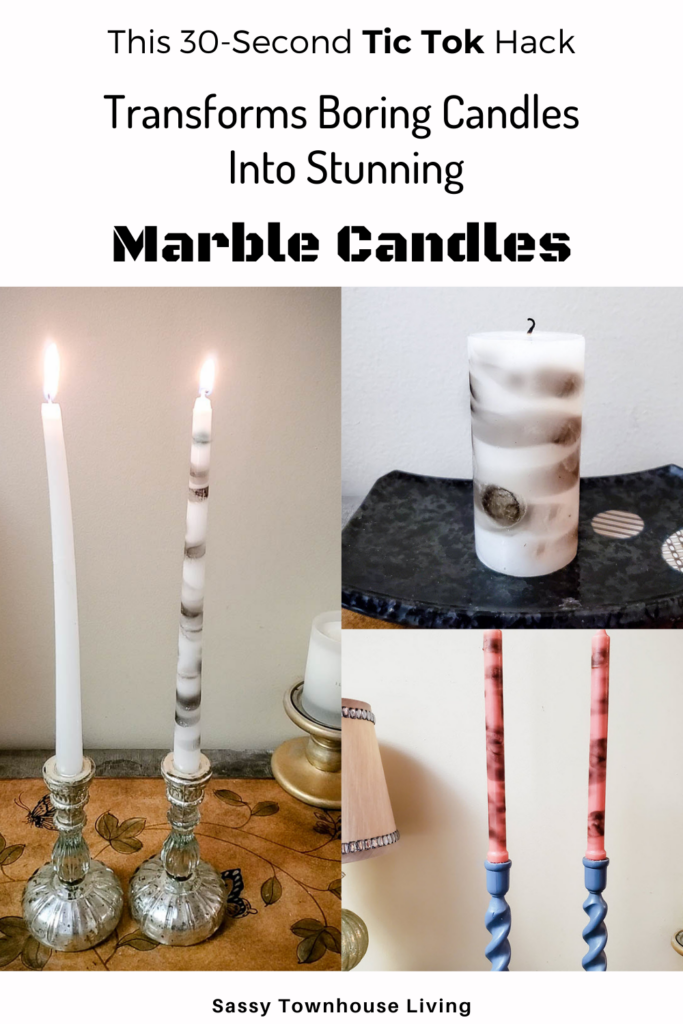 This DIY 30-Second Hack Transforms Boring Candles Into Marble Candles - Sassy Townhouse Living