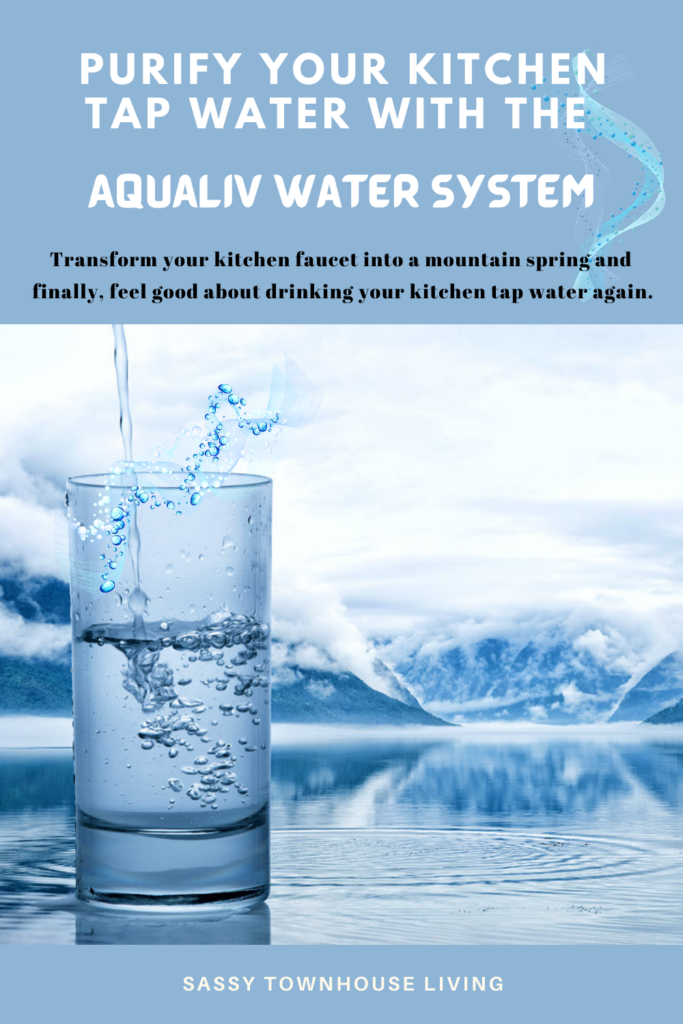 Purify Your Kitchen Tap Water With The AquaLiv Water System - Sassy Townhouse Living