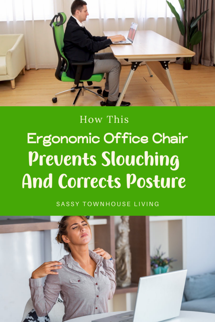 How This Ergonomic Office Chair Prevents Slouching And Corrects Posture - Sassy Townhouse Living