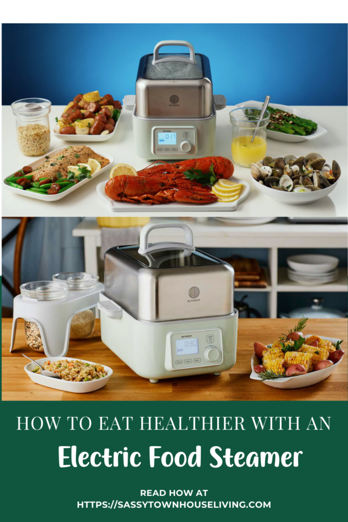 How To Eat Healthier With An Electric Food Steamer - Sassy Townhouse Living