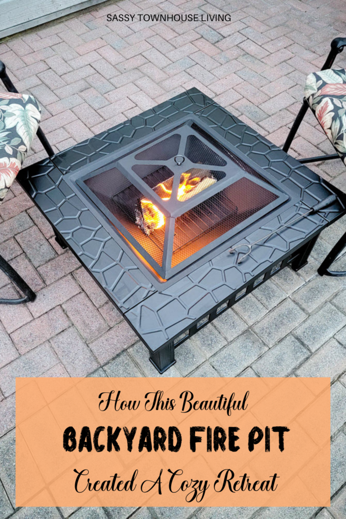 How This Beautiful Backyard Fire Pit Created A Cozy Retreat - Sassy Townhouse Living