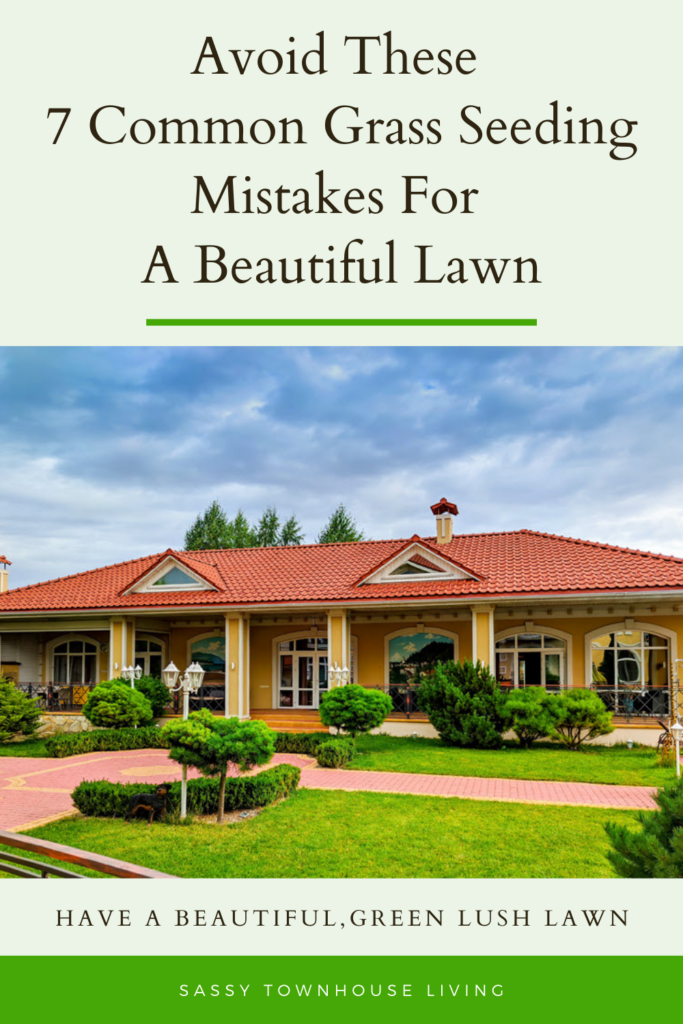 Avoid 7 Common Grass Seeding Mistakes For A Beautiful Lawn - Sassy Townhouse Living