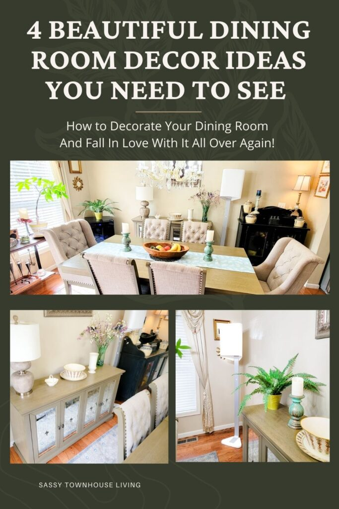 4 Beautiful Dining Room Decor Ideas You Need To See - Sassy Townhouse Living