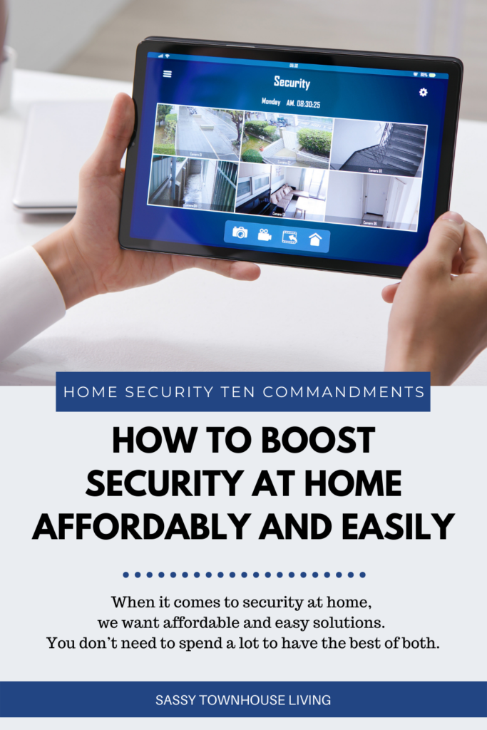 How To Boost Security At Home Affordably And Easily - Sassy Townhouse Living