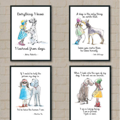 4 Dog Lover Printables Free Featured image