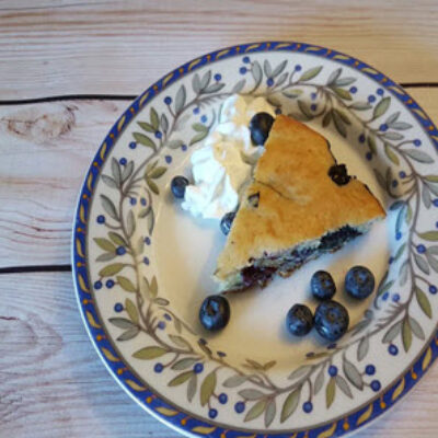 Blueberry Greek Yogurt Cake Feature Image