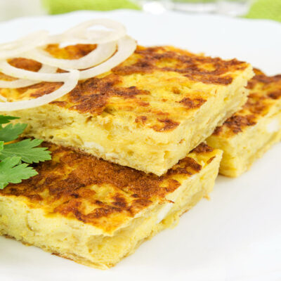 Corn, Cheese, and Onion Frittata- Sassy Townhouse Living