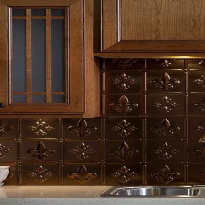 Decorative Facade Traditional Bermuda Bronze Lay-in on Kitchen Island (2)