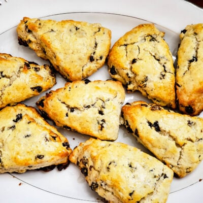 Earl Grey Raisin Scones with Vanilla Glaze - The Perfect Comfort Food FEATURED
