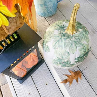 FEATURED Decoupage Painted Pumpkin 24