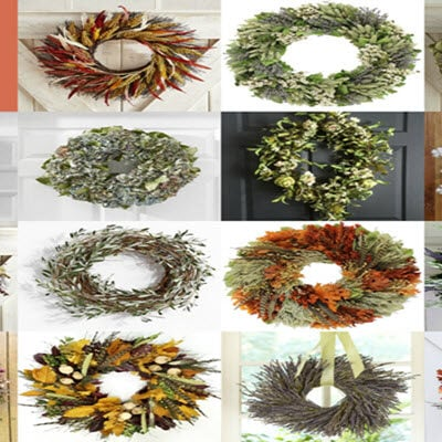 FEATUREDcollage1 15 Of My Favorite Fall Wreaths