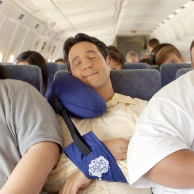 Fall Asleep Anywhere In Comfort With The Dream Sling Travel Pillow FEATURED