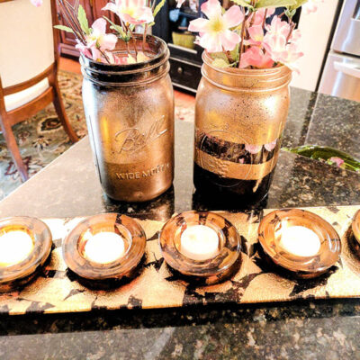 How To Easily Create Chic Black And Gold Mason Jars Featured