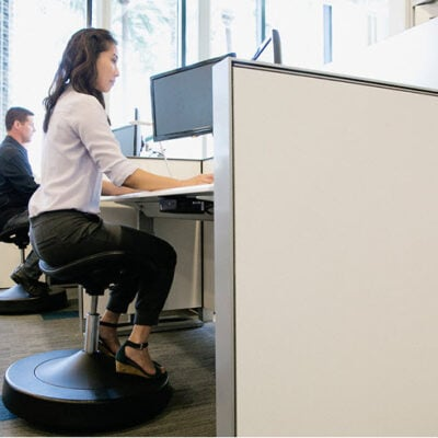 How To Get Fit While Sitting In Your Chair - Balanced Active Sitting FEATURED
