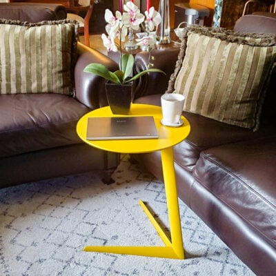 How To Perk Up Spring Decor With A Colorful Side Table FEATURED