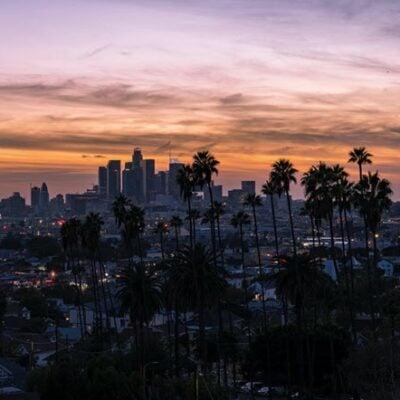 Los Angeles Skyline Sunset FEATURED