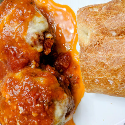 Meatball Parmigiana The Best You'll Ever Eat FEATURED