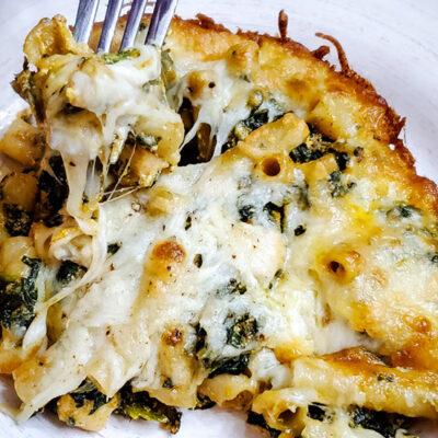 Pasta,Chicken, Spinach, Ricotta, With Tikka Masala Sauce Parmigiana Recipe-FEATURED