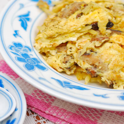 Scrambled Eggs with Onions and Mushrooms - Sassy Townhouse Living