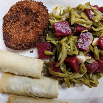 Sweet & Savory Green Bean, Garlic, & Beets Salad Featured