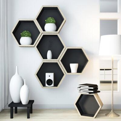 idea-hexagon-shelf-wooden-design-wall-livingroom-modern-zen-style - Featured